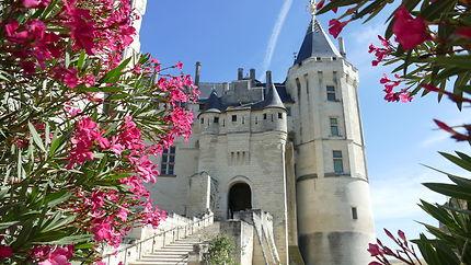 Vue sur l'entrée du château de Saumur