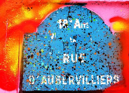 Rue d'Aubervillier et ses tags