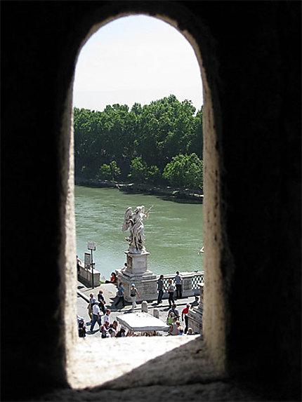 Pont Sant'Angelo vue depuis une meurtrière