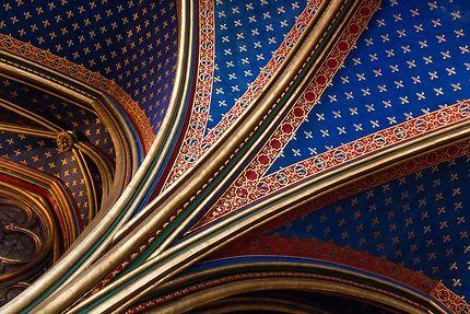 Sainte-Chapelle, décoration voûtes et plafond