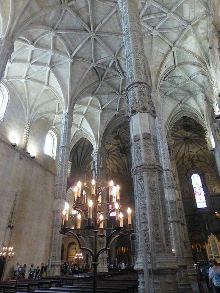 Colonnes, monastère dos Jerónimos, Lisbonne