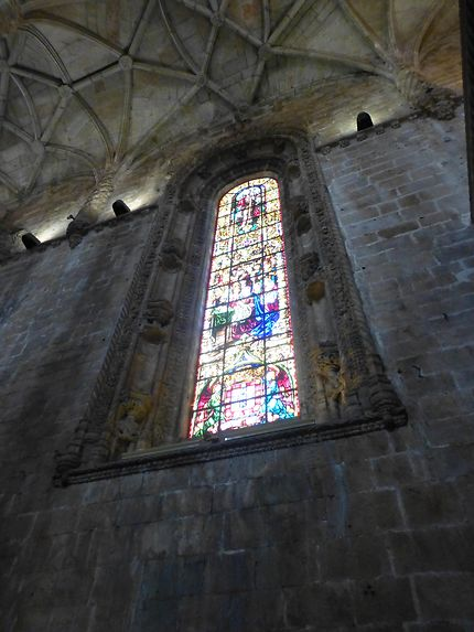 Beau vitrail, Mosteiro dos Jerónimos, Lisbonne