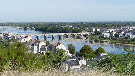 Vue sur La Loire et Saumur depuis le château