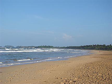 La plage de Bentota