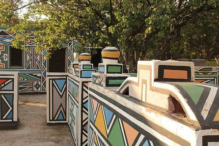 Village coloré d'Afrique du Sud