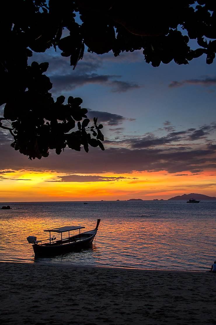 Couché de soleil sur Sunset Beach à Koh Lipe