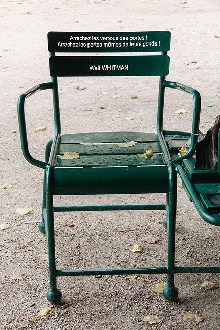 Chaise-poème du Palais-Royal, Paris