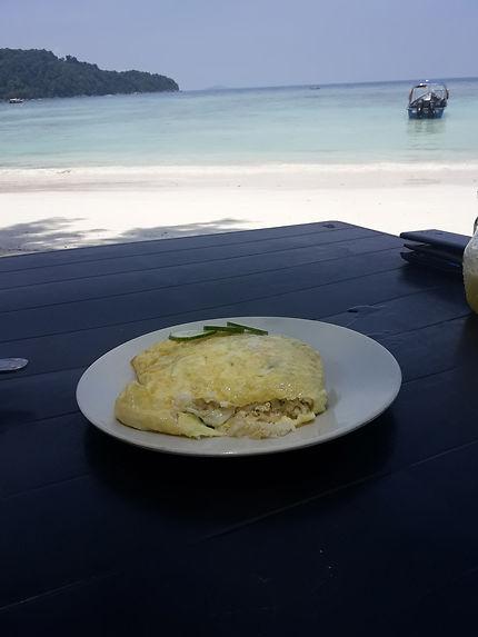Omelet Riz and Peranthian Island