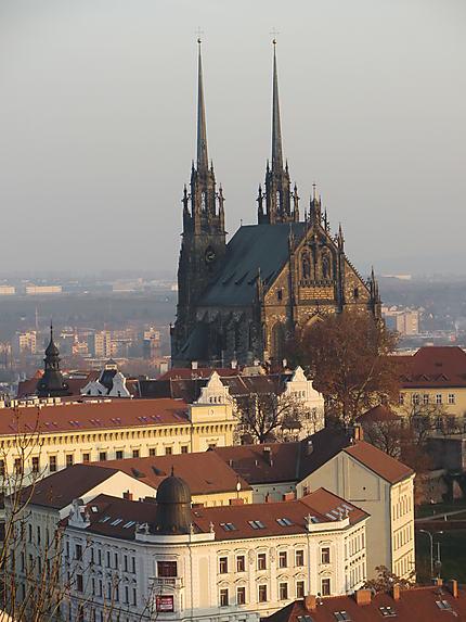 Cathédrale vue du château