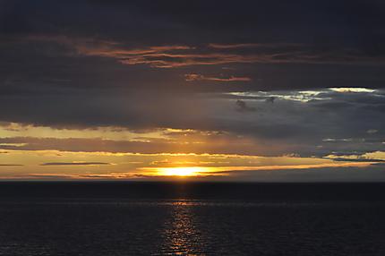 Couché de soleil à Playa Negra