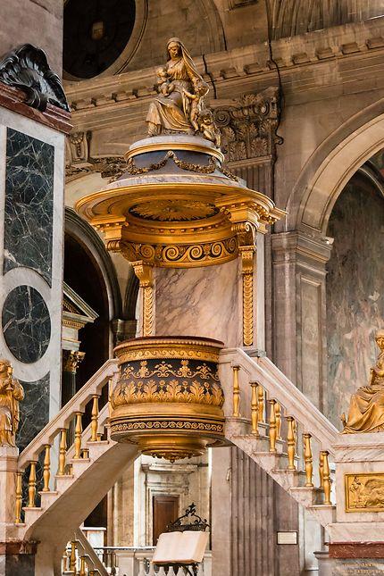 Eglise Saint-Sulpice, la chaire à prêcher