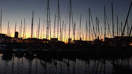 Coucher de soleil du Vieux-Port