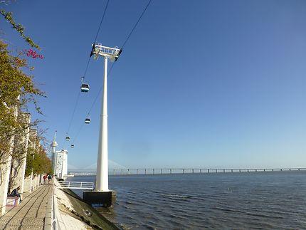 Téléphérique étonnant, parc des Nations, Lisbonne