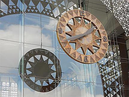 L'horloge de la nouvelle gare