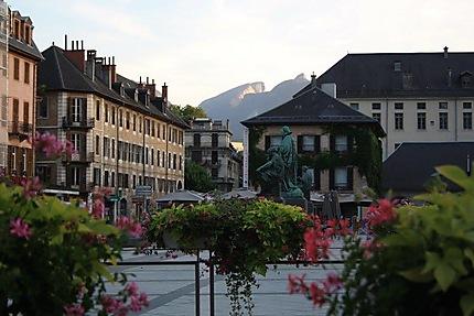 Soleil couchant sur Chambéry