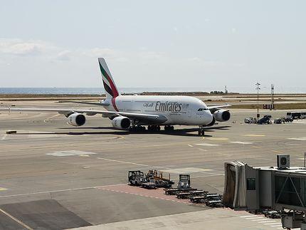 A380 Emirates à l'aéroport de Nice