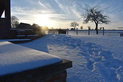 Paysage hivernal à Battice