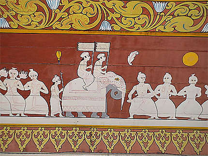 Fresques murales du temple Dalada Maligawa