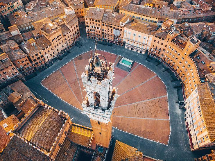Piazza del Campo, Sienne, Italie