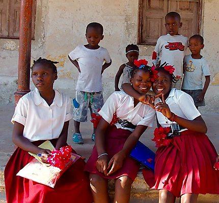 Jeunes élèves sur l'île d'Ibo - Mozambique