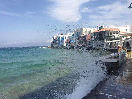 Front de mer à Mykonos