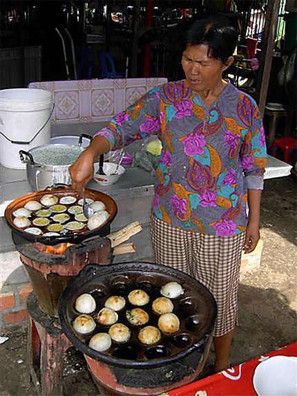 Vendeuse de boules coco