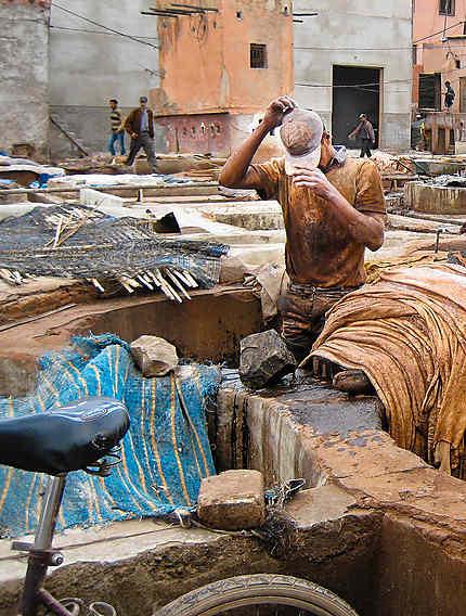Les tanneurs, Marrakech, Maroc