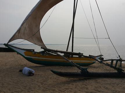 Bateau à Negombo