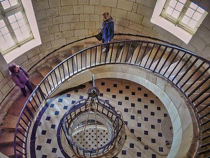 Escaliers intérieurs du phare de Cordouan
