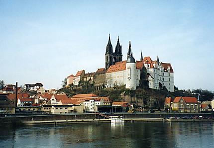 Le fleuve Elbe et le château