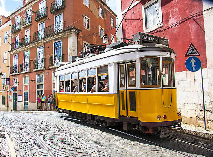 Le tram 28 pour l'Alfama