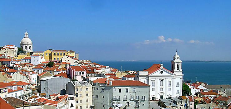 Lisbonne vue du miradouro de Santa Luzia