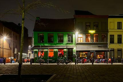 Vie nocturne dans les rues de Gand