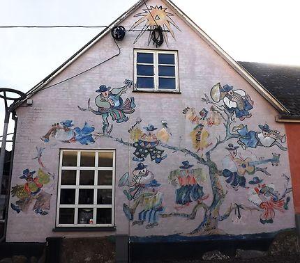 Décoration de pignon de maison à Vordingborg