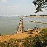Pont de bambou à Kompong Cham