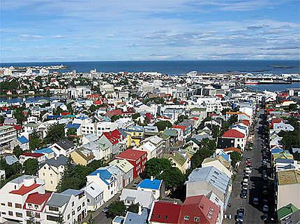 Reykjavik et ses toits colorés