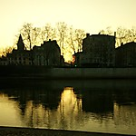 Coucher de soleil sur la Saône