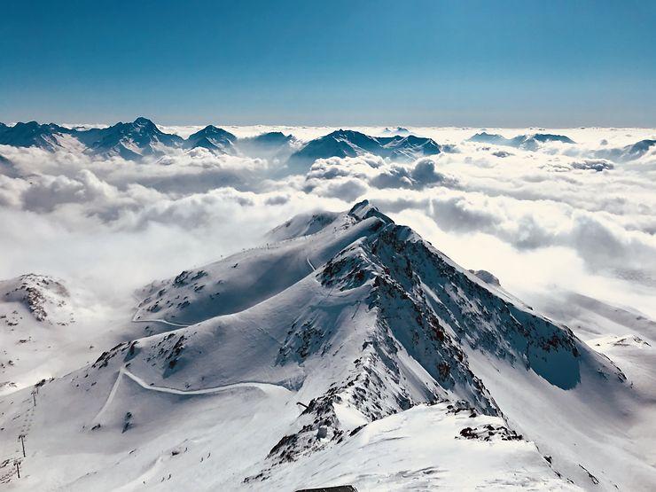 En haut du pic blanc 3300m, Alpes