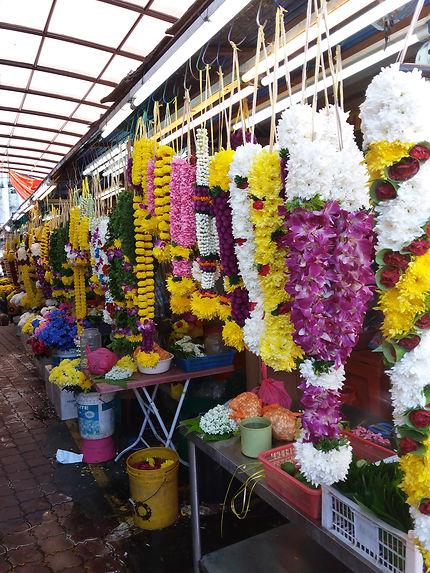 Deepavali fleurs pour les offrandes