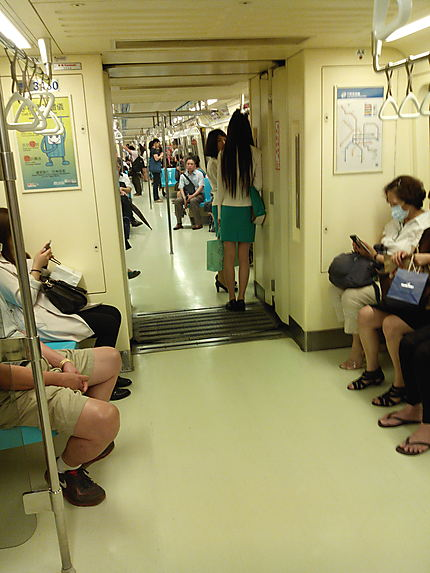 Dans le métro à Taiwan
