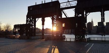 New York, Long Island City, sunset !