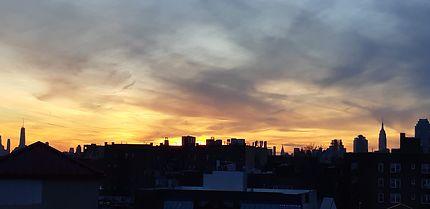 Coucher de soleil sur Manhattan depuis la 52th St