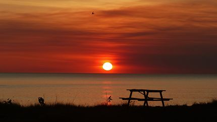 Coucher de soleil à Dundee beach