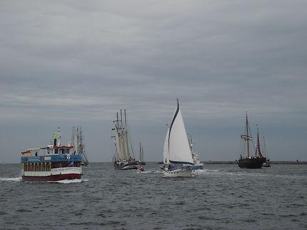 Enbouteillage de bateaux - Hansa Sail 2017