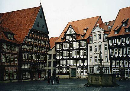 la place centrale de Hildesheim