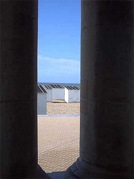 Sur la plage d'Ostende