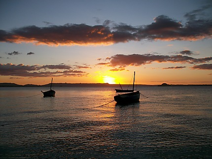 Beau coucher de soleil à Diégo-Suarez