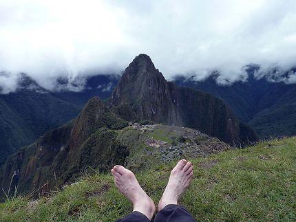 C'est le pied au Machu Picchu