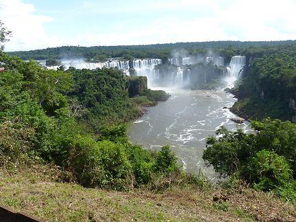 Les chutes d'Iguacu du côté Bresil