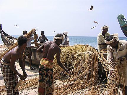 Pêcheurs de Varkala